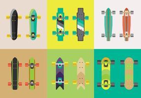 Libre Longboard Skateboard Vectores