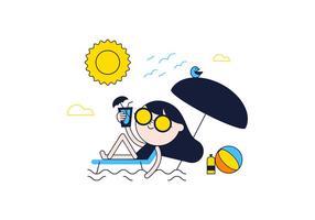 Gratis Sunbathe Vector