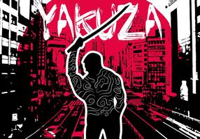 Vecteur d'illustration de fond de Yakuza