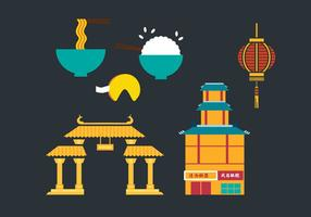 China Town Vector Elements