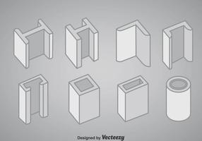 Staal Structuur Pictogrammen Vector