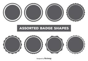 Vector Badge Form Set
