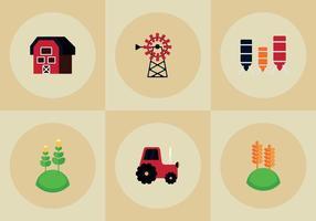 Vectores gratis de elementos de la granja