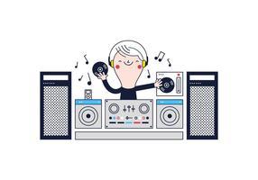 Kostenloser DJ-Vektor