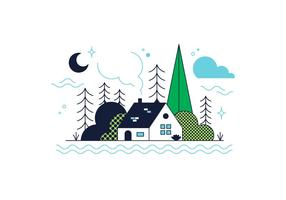 Gratis Wood House Vector