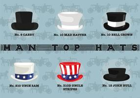Man Top Hats Vector