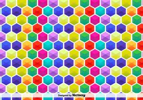 Motif hexagonal vectoriel coloré