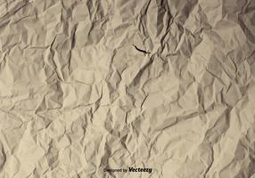 Vector Achtergrond Van Een Verfrommelde Papier Textuur
