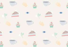 Teatime Pattern Vector