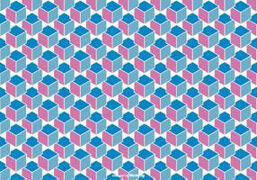 Resumen vector de fondo cubo