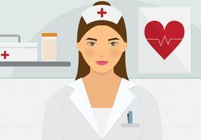 Hermosa Enfermera Vector