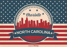 Charlotte nord carolina skyline illustration