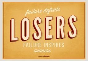 Affiche rétro inspiratoire typographique