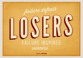 Cartel retro inspirado tipográfico