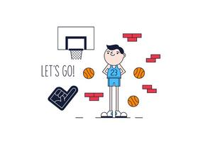 Gratis Basket Spieler Vektor