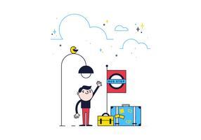Vector libre de parada de autobús