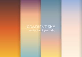 Gradient Sky Vector Backgrounds