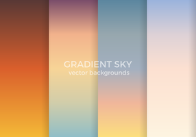 Gradient Sky Vector Backgrounds