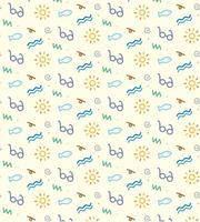 Summer Beach Icons Pattern vector