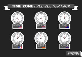Pack de vecteur gratuit du fuseau horaire