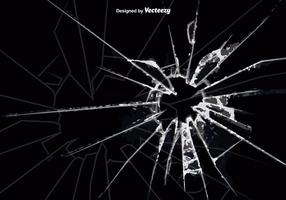 Vector Cracked Glass Background