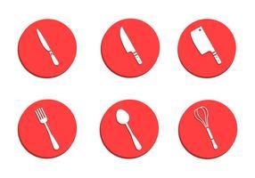 Cubiertos y vectores de utensilios de cocina