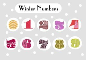 Retro Numbers Vector Background