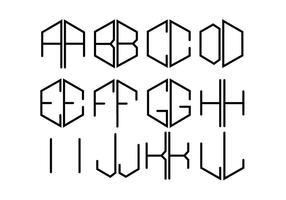 Monogrammi gratis due lettere vettoriale