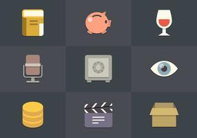 Free Flat Icon Set 01 Vector