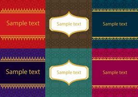 Set of Asian Thai Patterns  vector
