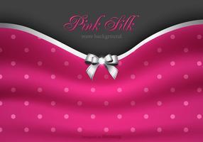 Vector libre de seda de color rosa de fondo