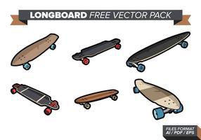 Pack de vecteur gratuit longboard