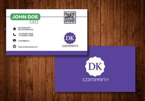 Purple Creative Business Card vector