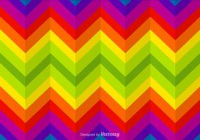 Zigzag Rainbow Vector Background
