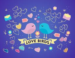 Free Love Birds Vector Background
