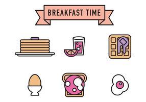 Ícones de vetor de café da manhã