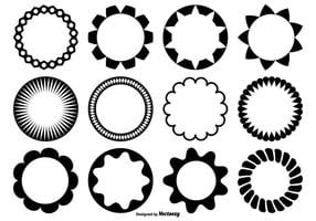 Círculo de formas vectoriales