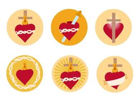Sacred Heart Free Vector