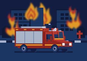 vettore camion dei pompieri