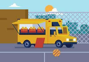 Vector Voedselvrachtwagen