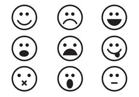 Gratis Emoticon Set Vector