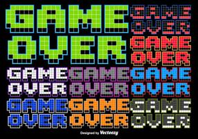 8 bit Game Over Stylized Message vector