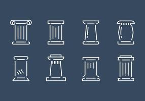 Pilar romano libre conjunto de vectores
