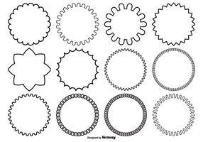Formas vetoriais variadas do círculo