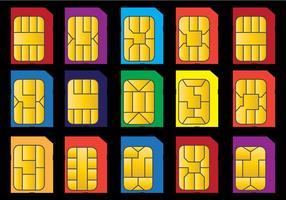 Conjunto de vetores Microchip do telefone
