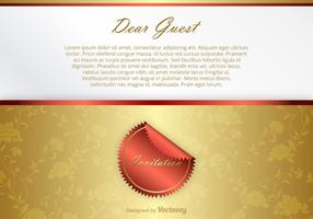 Lycklig Vector Invitation Card