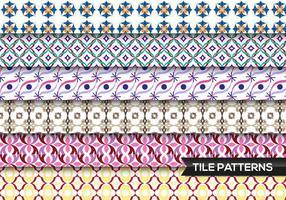 Patrones de azulejos Vector Libre