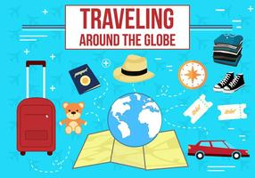 Travelling Vector Icons