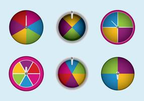Free Spinning Wheel Vector Illustration
