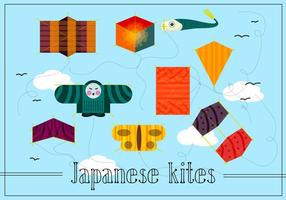 Free Japanese Kites Vector